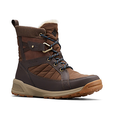 Women's Meadows™ Omni-Heat™ Mid-Cut Snow Boots MEADOWS™ SHORTY OMNI-HEAT™ 3D | 125 | 10, Espresso MHW, Lagoon, 3/4 front