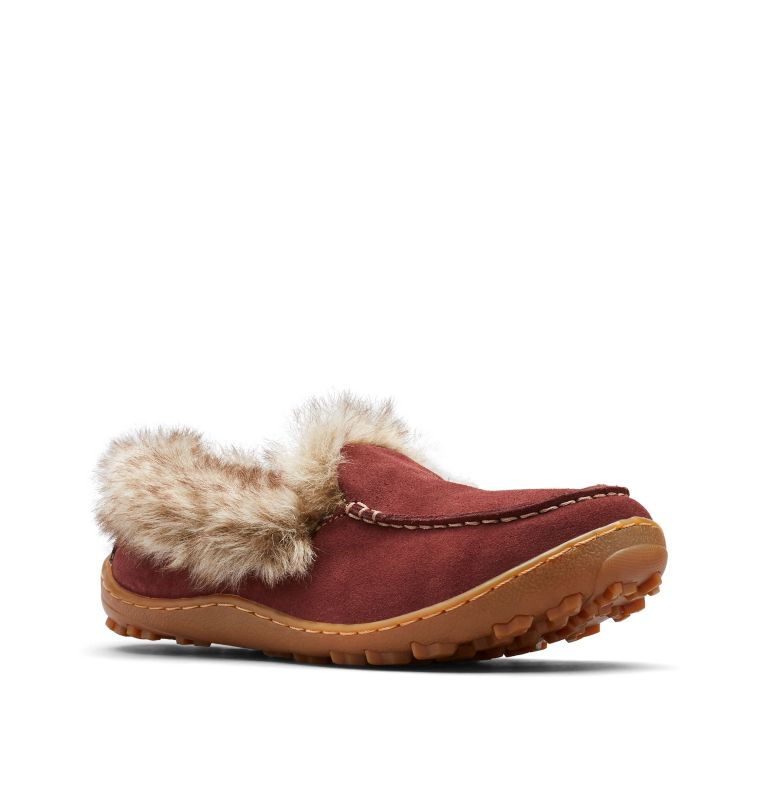 MINX™ OMNI-HEAT™ | 259 | 9.5 Women's Minx™ Omni-Heat™ Slipper, Madder Brown, Ancient Fossil, 3/4 front