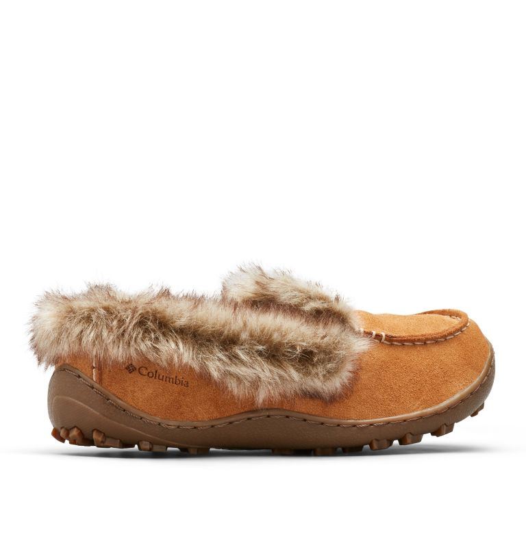 MINX™ OMNI-HEAT™ | 286 | 7 Women's Minx™ Omni-Heat™ Slipper, Elk, Ancient Fossil, 3/4 back
