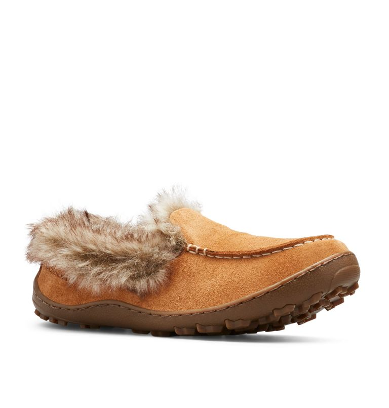 MINX™ OMNI-HEAT™ | 286 | 7 Women's Minx™ Omni-Heat™ Slipper, Elk, Ancient Fossil, 3/4 front