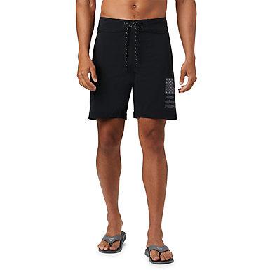 Men's PFG Fish Series™ Board Shorts PFG Fish Series™ Board Short | 471 | 38, Black, Graphite Fish Flag, front