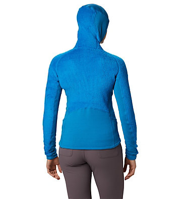 Women's Monkey Fleece™ Grid Hooded Jacket Monkey Woman™ Grid Hooded Jack | 453 | L, Prism Blue, back