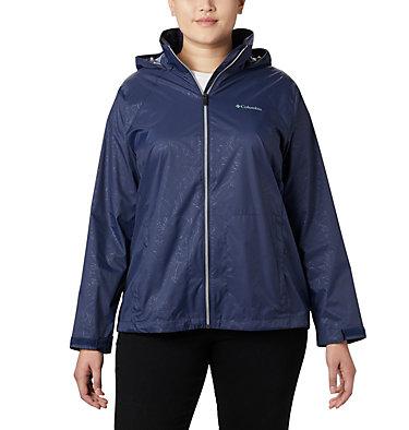 Women's Switchback™ III Printed Jacket – Plus Size Switchback™ III Printed Jacket | 843 | 1X, Nocturnal Wispy Bamboo Emboss, front