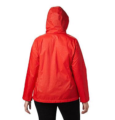 Women's Switchback™ III Printed Jacket – Plus Size Switchback™ III Printed Jacket | 843 | 1X, Bold Orange Wispy Bamboo Emboss, back