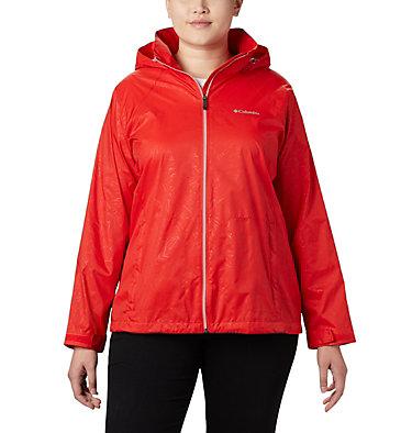 Women's Switchback™ III Printed Jacket – Plus Size Switchback™ III Printed Jacket | 843 | 1X, Bold Orange Wispy Bamboo Emboss, front