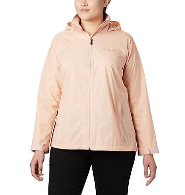 Women's Switchback™ III Printed Jacket – Plus Size Switchback™ III Printed Jacket | 843 | 1X, Peach Cloud Wispy Bamboo Emboss, front