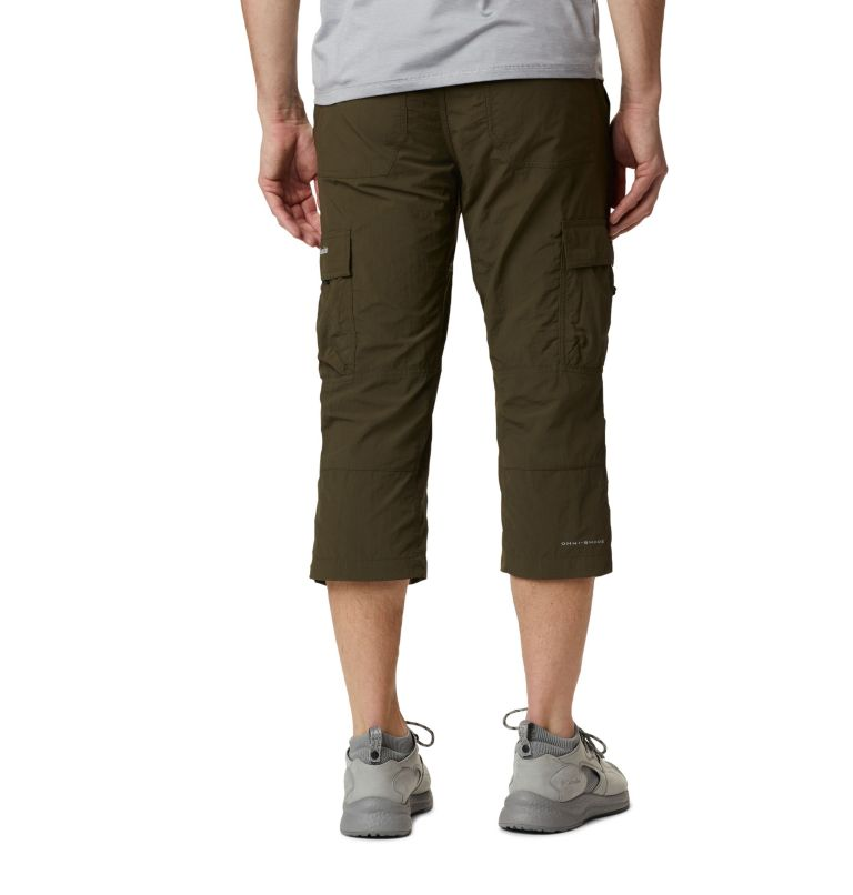 Silver Ridge™ II Capri | 319 | 32 Men's Silver Ridge™ II Capri Trousers, Olive Green, back