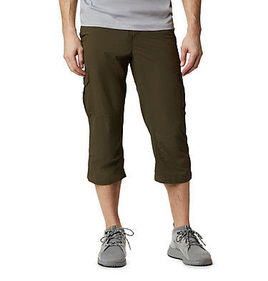 Men's Silver Ridge™ II Capri Trousers Silver Ridge™ II Capri | 160 | 28, Olive Green, front