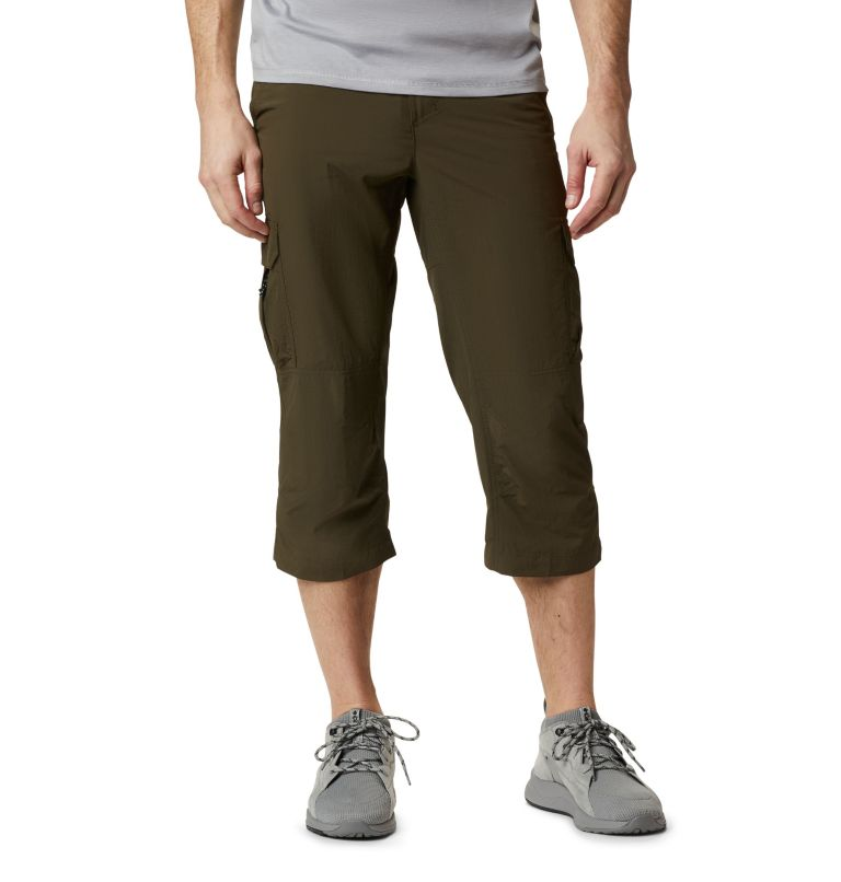 Silver Ridge™ II Capri | 319 | 28 Men's Silver Ridge™ II Capri Trousers, Olive Green, front