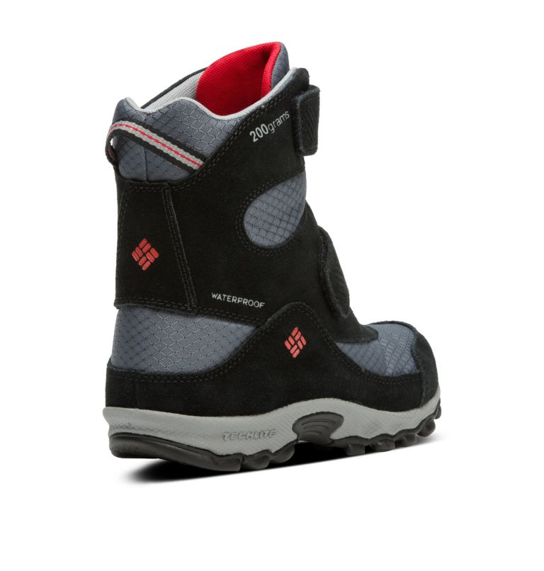 YOUTH PARKERS PEAK™ BOOT | 053 | 2 Botte Velcro Parkers Peak™ Junior, Graphite, Bright Red, 3/4 back