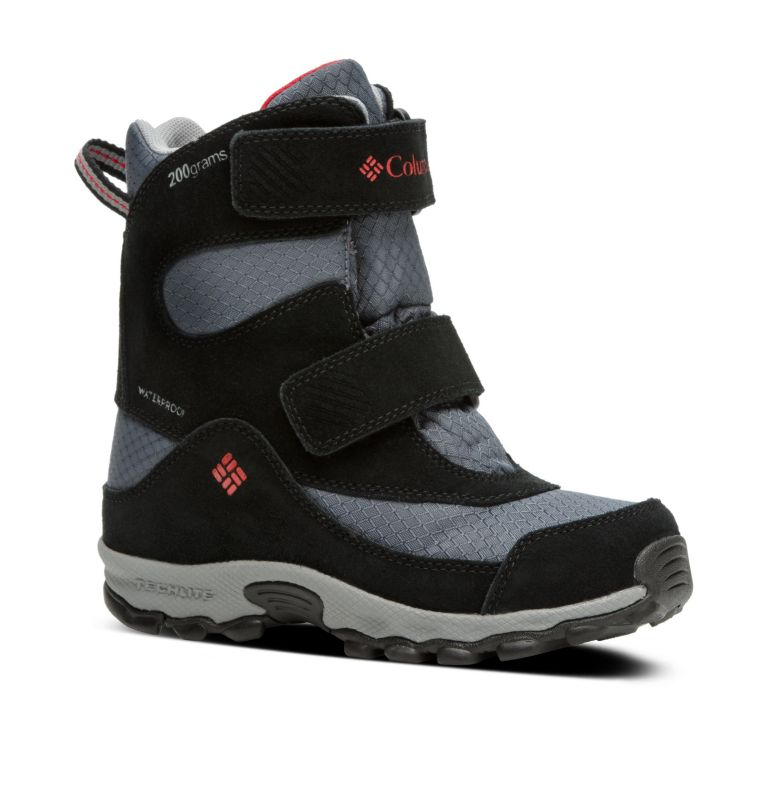 YOUTH PARKERS PEAK™ BOOT | 053 | 2 Botte Velcro Parkers Peak™ Junior, Graphite, Bright Red, 3/4 front
