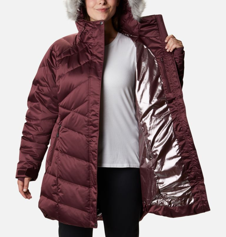 Lay D Down™ II Mid Jacket | 671 | 3X Women's Lay D Down™ II Mid Jacket - Plus Size, Malbec, a3