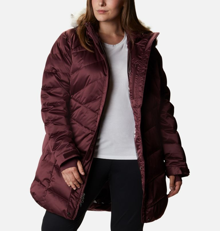 Lay D Down™ II Mid Jacket | 671 | 3X Women's Lay D Down™ II Mid Jacket - Plus Size, Malbec, a6