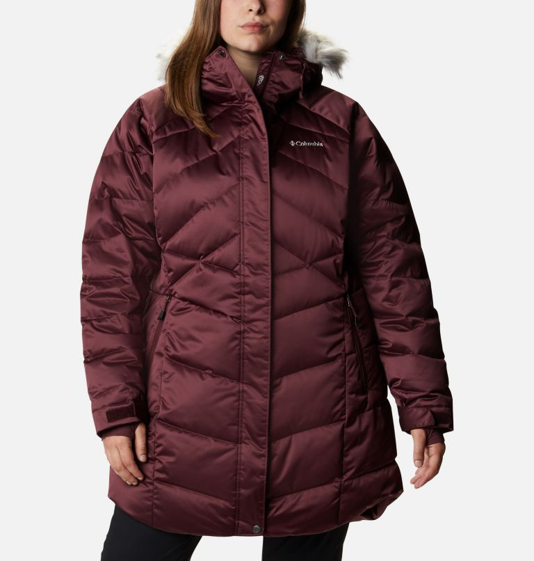 Lay D Down™ II Mid Jacket | 671 | 3X Women's Lay D Down™ II Mid Jacket - Plus Size, Malbec, front
