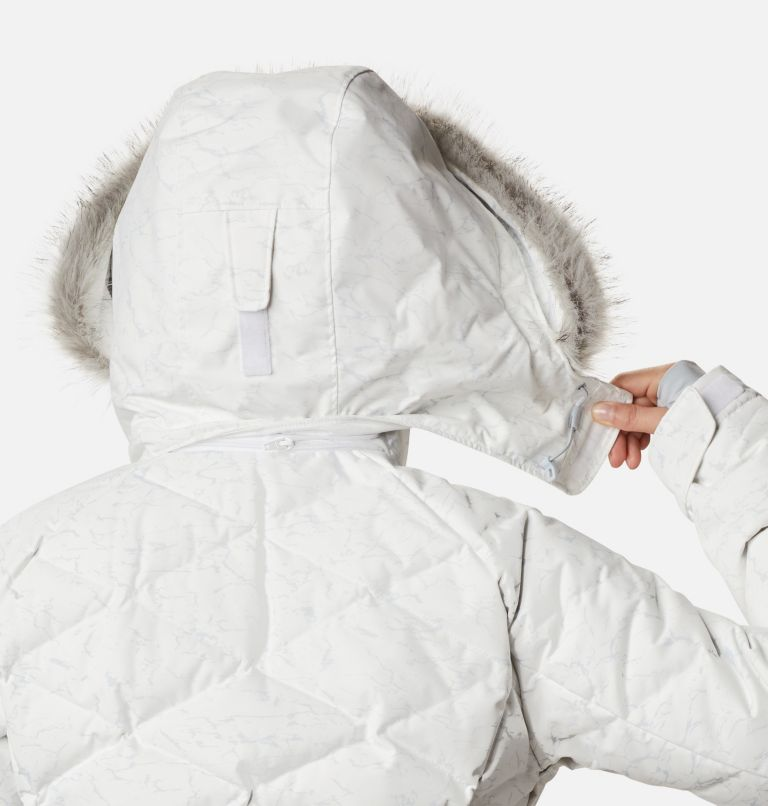 Lay D Down™ II Jacket | 102 | XXL Women's Lay D Down™ II Jacket, White, Cirrus Grey Crackle Print, a10