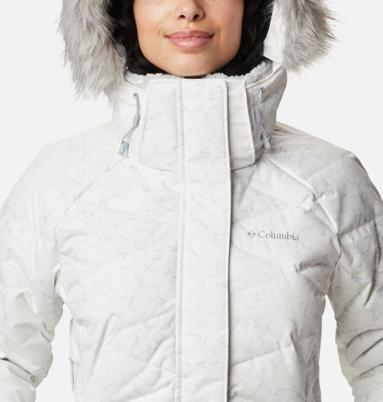 Lay D Down™ II Jacket | 102 | XXL Women's Lay D Down™ II Jacket, White, Cirrus Grey Crackle Print, a2