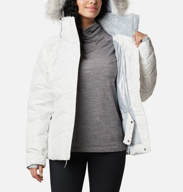 Lay D Down™ II Jacket | 102 | XXL Women's Lay D Down™ II Jacket, White, Cirrus Grey Crackle Print, a3