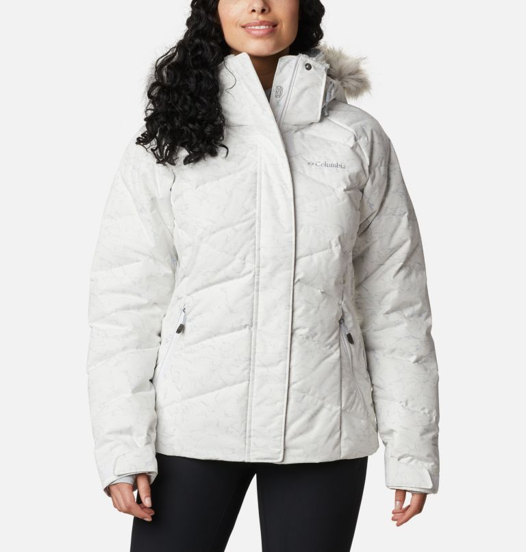 Lay D Down™ II Jacket | 102 | XL Women's Lay D Down™ II Jacket, White, Cirrus Grey Crackle Print, front
