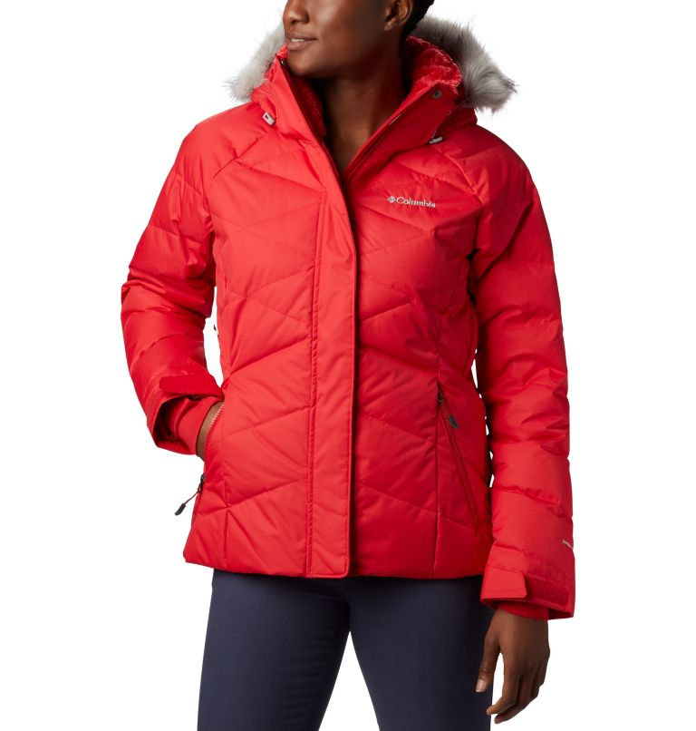 Lay D Down™ II Jacket | 658 | XS Veste Lay D Down™ II Femme, Red Lily, front
