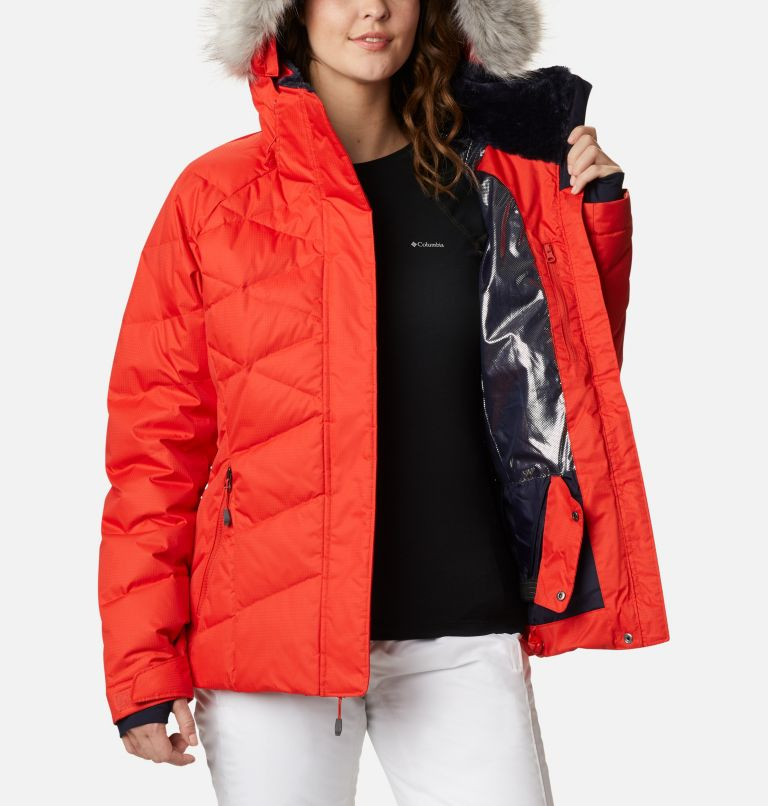 Lay D Down™ II Jacket | 843 | L Women's Lay D Down™ II Ski Jacket, Bold Orange Dobby, a3