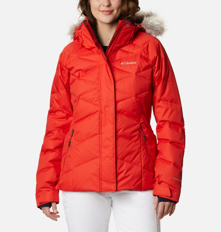 Lay D Down™ II Jacket | 843 | L Women's Lay D Down™ II Ski Jacket, Bold Orange Dobby, front