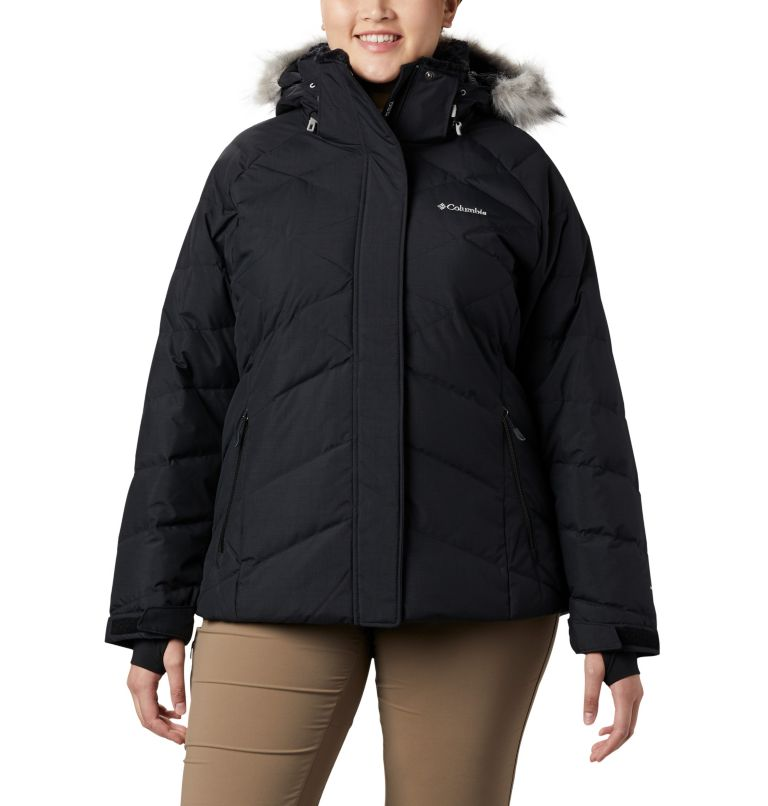Lay D Down™ II Jacket | 013 | 3X Women's Lay D Down™ II Jacket - Plus Size, Black Metallic, front