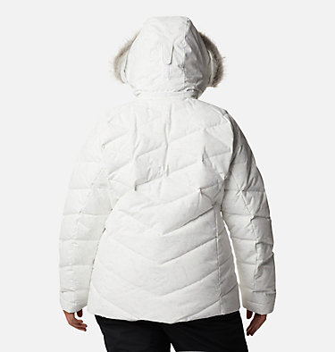 Women's Lay D Down™ II Jacket - Plus Size Lay D Down™ II Jacket | 843 | 1X, White, Cirrus Grey Crackle Print, back