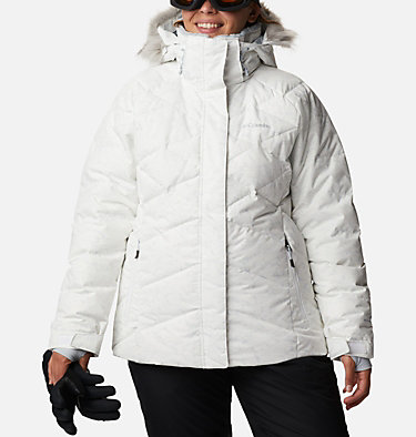 Women's Lay D Down™ II Jacket - Plus Size Lay D Down™ II Jacket | 843 | 1X, White, Cirrus Grey Crackle Print, front