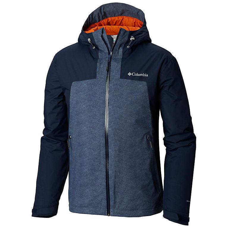 Columbia Mens Top Pine Insulated Rain Jacket Waterproof /& Breathable