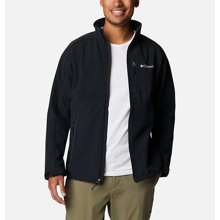 Black Heather, Black Men's Ryton Reserve™ Softshell Jacket, View 0