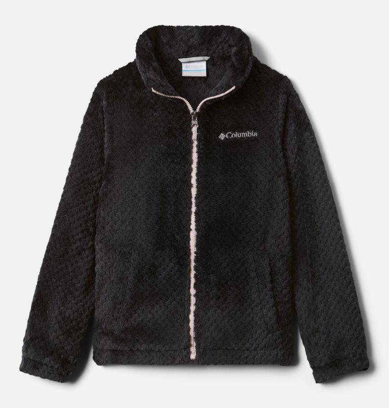 Fire Side™ Sherpa Full Zip | 012 | XXS Girls' Fire Side™ Sherpa Jacket, Black, front