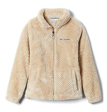 Girls' Fire Side™ Sherpa Jacket Fire Side™ Sherpa Full Zip | 689 | L, Ancient Fossil, front