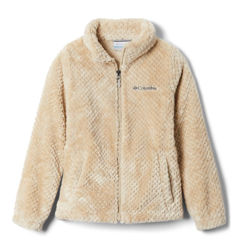 Fire Side™ Sherpa Full Zip | 271 | XXS Girls' Fire Side™ Sherpa Jacket, Ancient Fossil, front