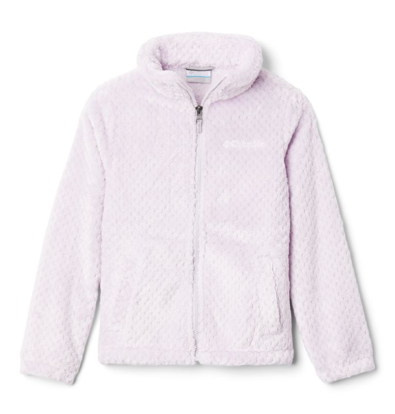 Fire Side™ Sherpa Full Zip | 585 | XXS Girls' Fire Side™ Sherpa Jacket, Pale Lilac, front