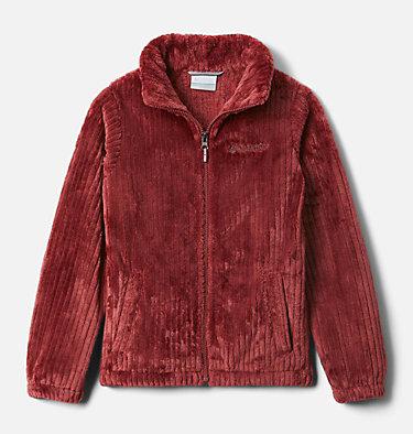 Girls' Fire Side™ Sherpa Jacket Fire Side™ Sherpa Full Zip | 689 | L, Marsala Red, front