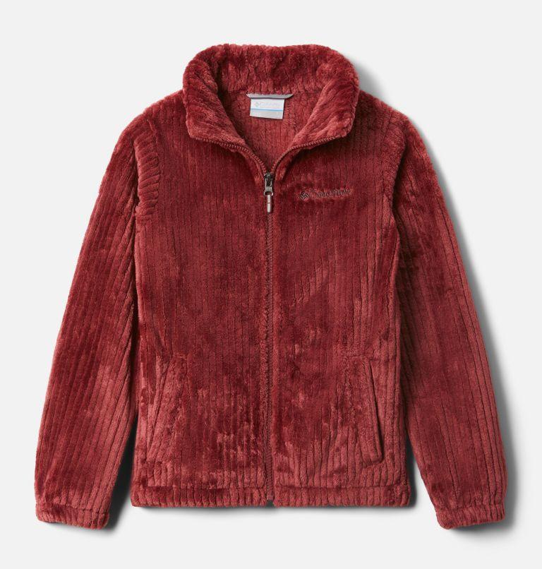 Fire Side™ Sherpa Full Zip | 619 | XXS Girls' Fire Side™ Sherpa Jacket, Marsala Red, front