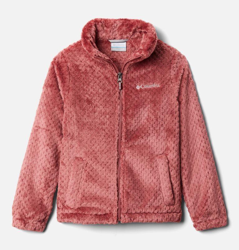 Fire Side™ Sherpa Full Zip | 620 | L Girls' Fire Side™ Sherpa Jacket, Marsala Red, front