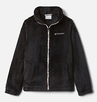 Chaqueta de polar Fire Side para niños  Fire Side™ Sherpa Full Zip | 012 | XS, Black, front