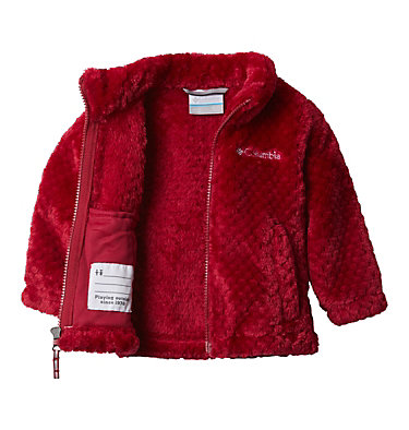 Youth Fire Side Fleece Jacket  Fire Side™ Sherpa Full Zip | 466 | S, Pomegranate, a1