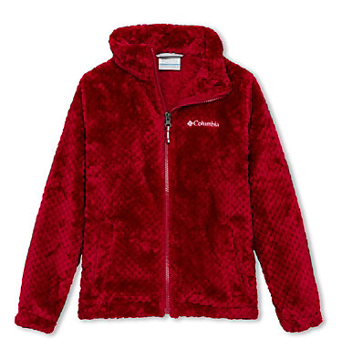 Youth Fire Side Fleece Jacket  Fire Side™ Sherpa Full Zip | 466 | S, Pomegranate, front