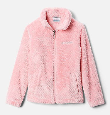 Youth Fire Side Fleece Jacket  Fire Side™ Sherpa Full Zip | 012 | XL, Pink Orchid, front