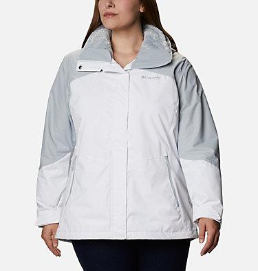 Women's Bugaboo™ II Fleece Interchange Jacket - Plus Size Bugaboo™ II Fleece Interchange Jacket | 100 | 1X, White, Cirrus Grey, front
