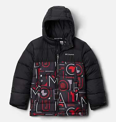 Pike Lake™ Jacke Junior Pike Lake™ Jacket | 012 | XS, Black, Red Multi Typo Print, front