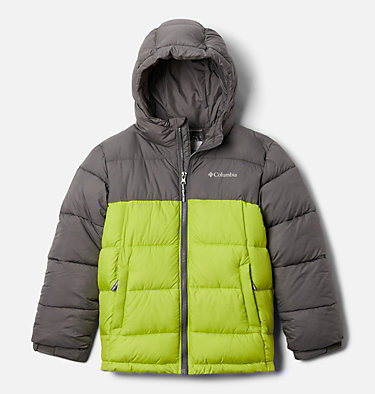 Pike Lake™ Jacke Junior Pike Lake™ Jacket | 012 | XS, City Grey, Bright Chartreuse, front