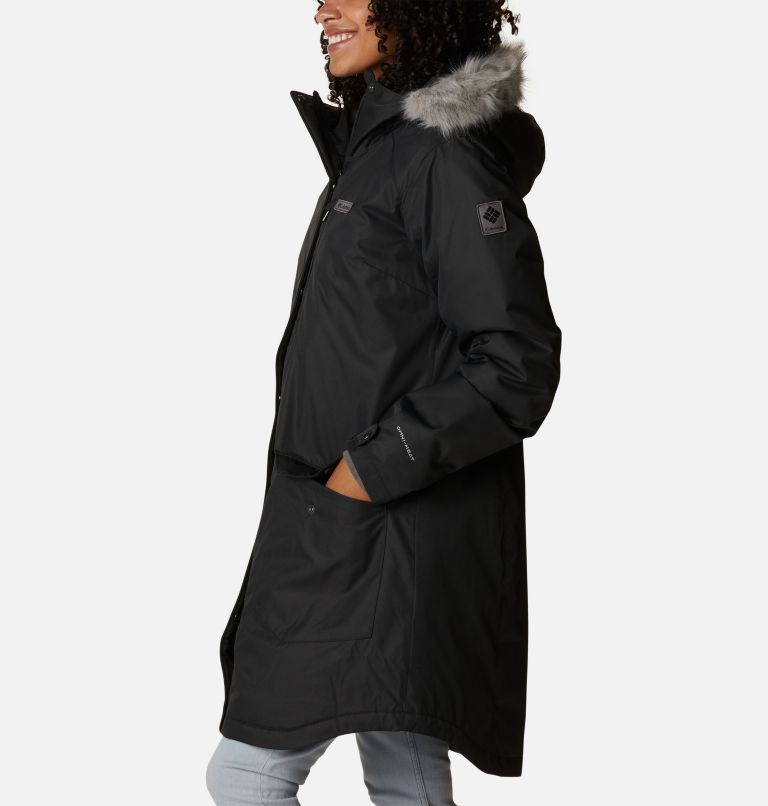 Suttle Mountain™ Long Insulated Jacket | 010 | XL Women's Suttle Mountain™ Long Insulated Jacket, Black, a1
