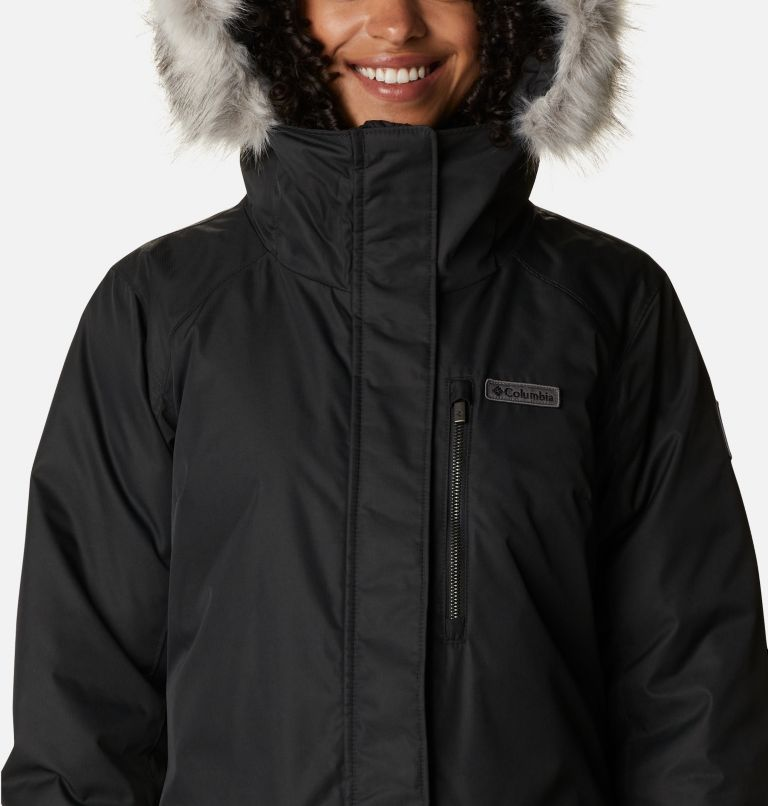 Suttle Mountain™ Long Insulated Jacket | 010 | XL Women's Suttle Mountain™ Long Insulated Jacket, Black, a2
