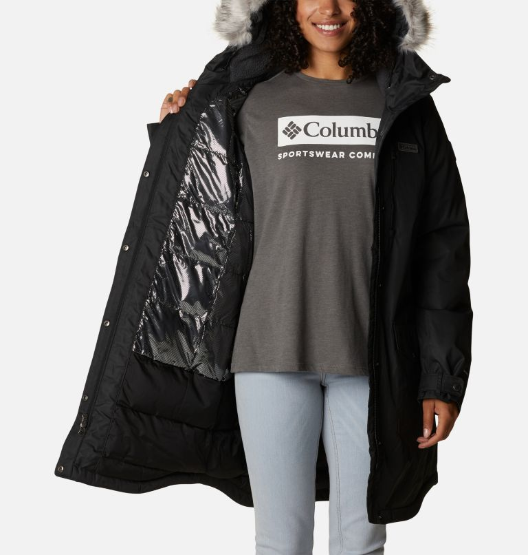 Suttle Mountain™ Long Insulated Jacket | 010 | XL Women's Suttle Mountain™ Long Insulated Jacket, Black, a3