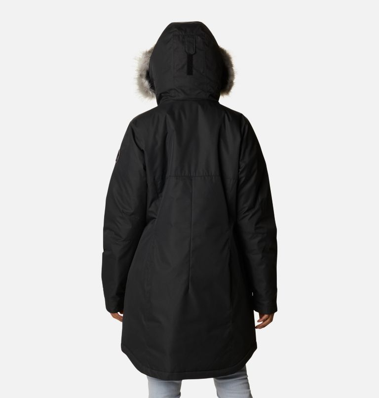 Suttle Mountain™ Long Insulated Jacket | 010 | XL Women's Suttle Mountain™ Long Insulated Jacket, Black, back
