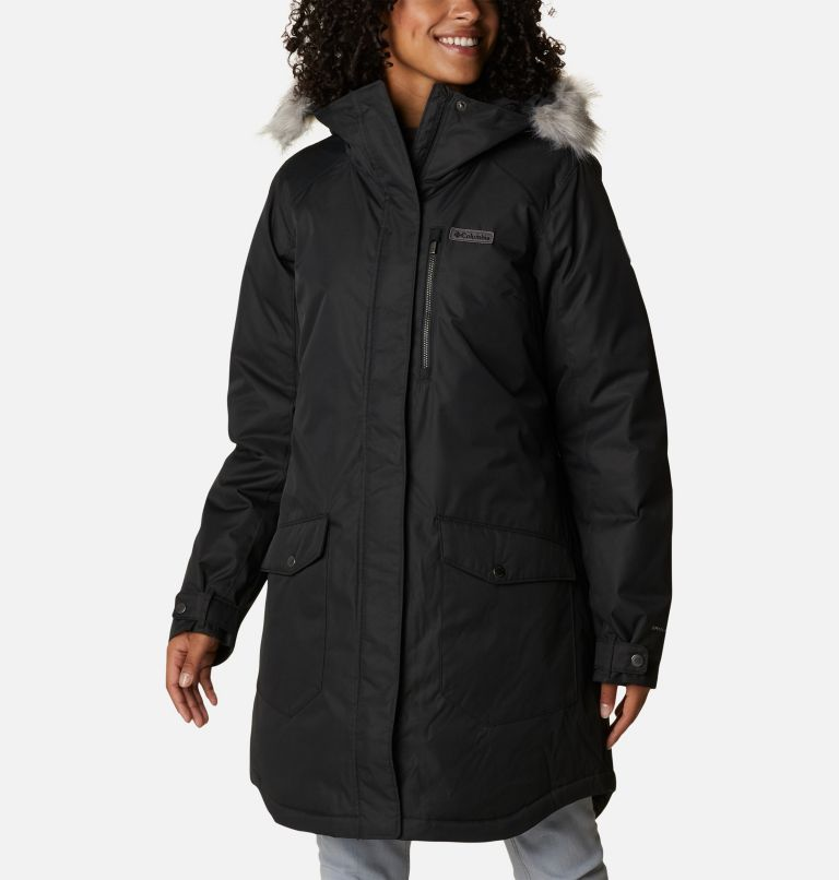 Suttle Mountain™ Long Insulated Jacket | 010 | XL Women's Suttle Mountain™ Long Insulated Jacket, Black, front