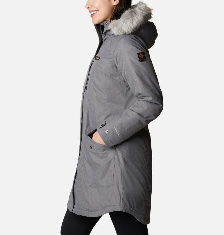 Suttle Mountain™ Long Insulated Jacket   023   S Women's Suttle Mountain™ Long Insulated Jacket, City Grey, a1